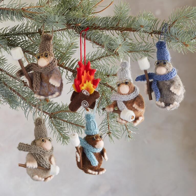 CAMPFIRE MOLES ORNAMENTS, SET OF 6