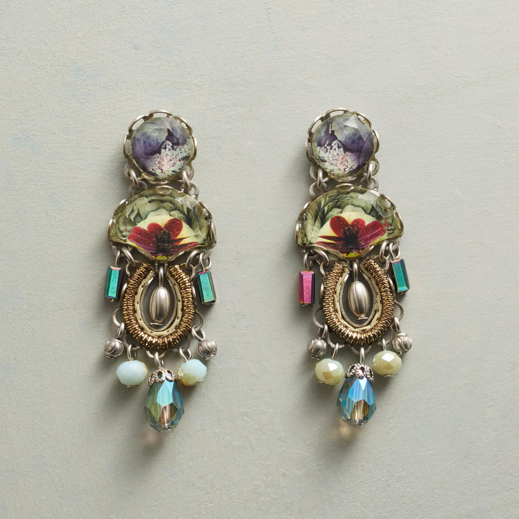 ROSLYN CRYSTAL EARRINGS: View 1