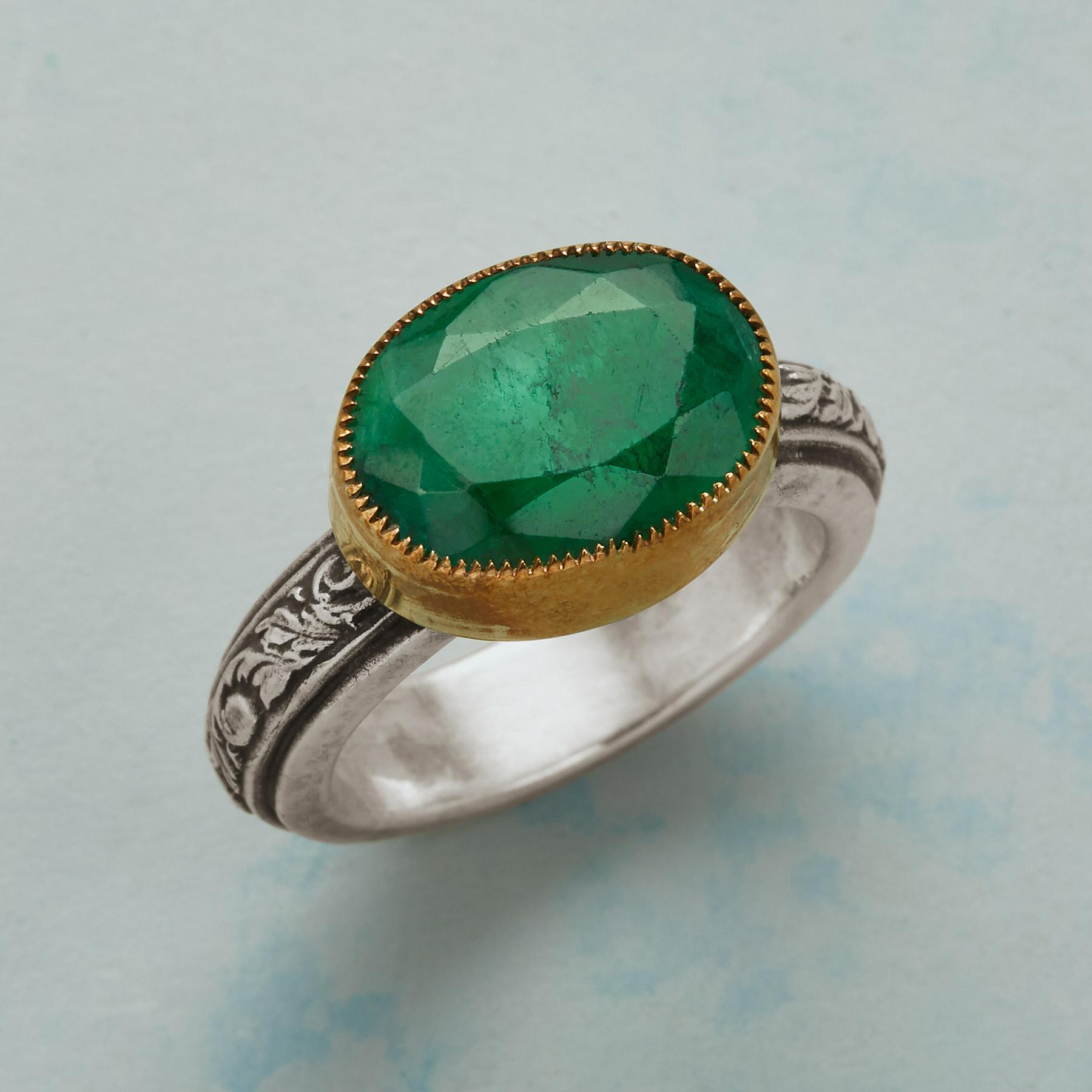 EVERMORE EMERALD RING: View 1