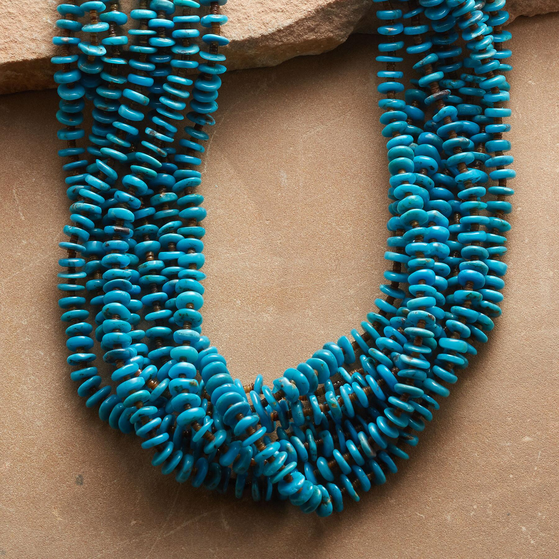 CRUCITA TéNORINO TURQUOISE NECKLACE: View 1