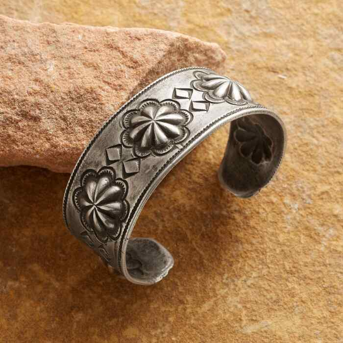 ROSETTE STERLING CUFF BY BUFFALO
