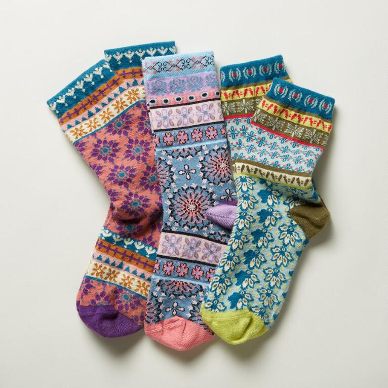 JOYFUL MOSAIC SOCKS