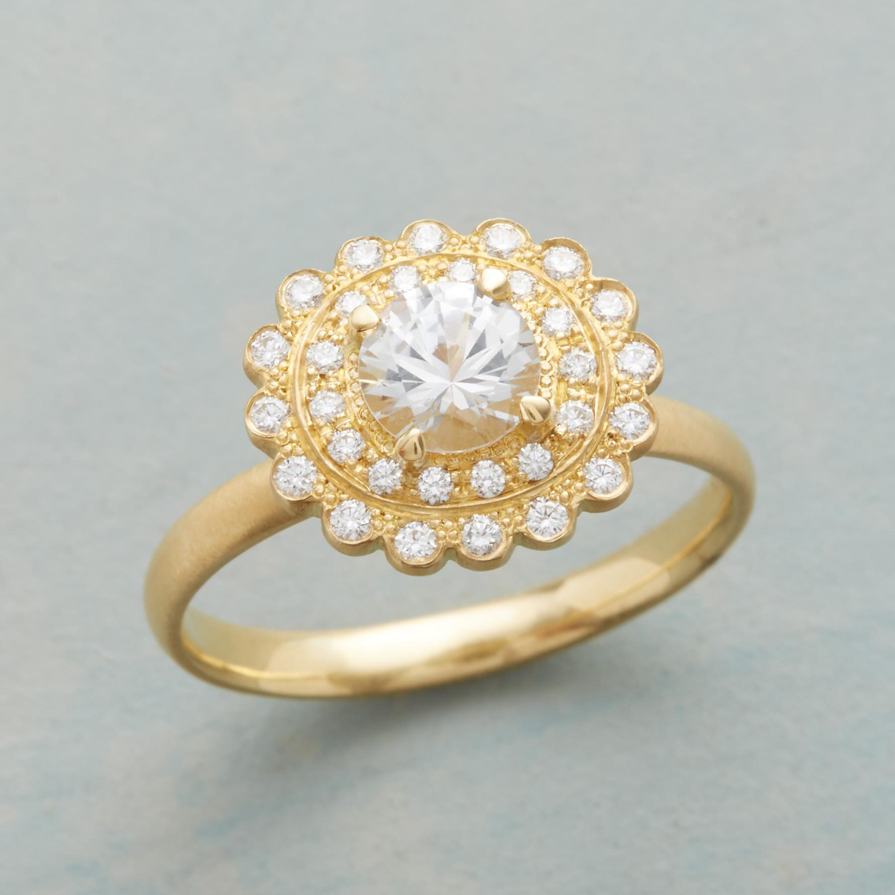 MAJESTIC WHITE SAPPHIRE RING: View 1