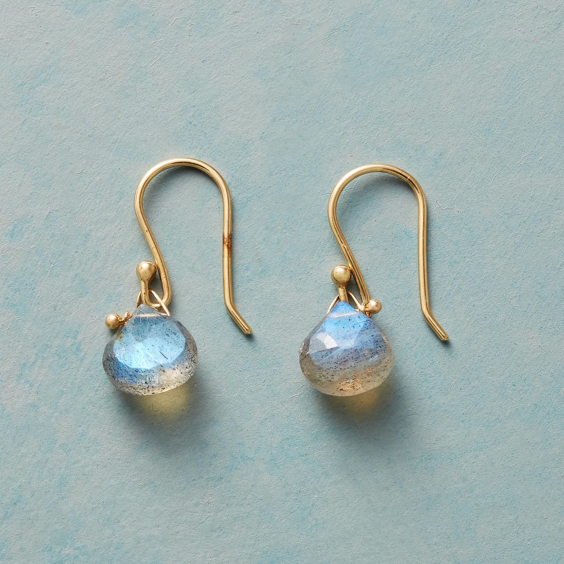 HOOKED LABRADORITE EARRINGS: View 1