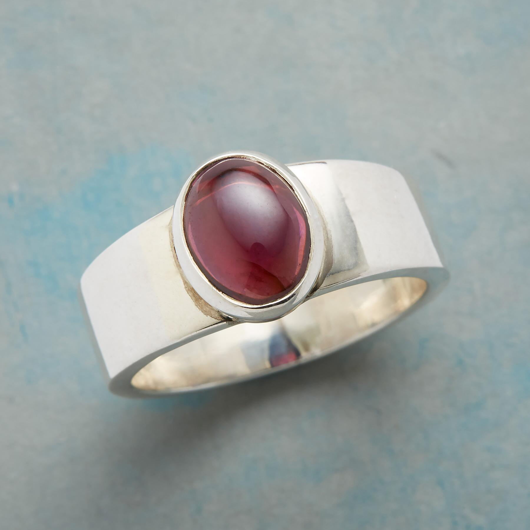 PURELY GARNET RING: View 1