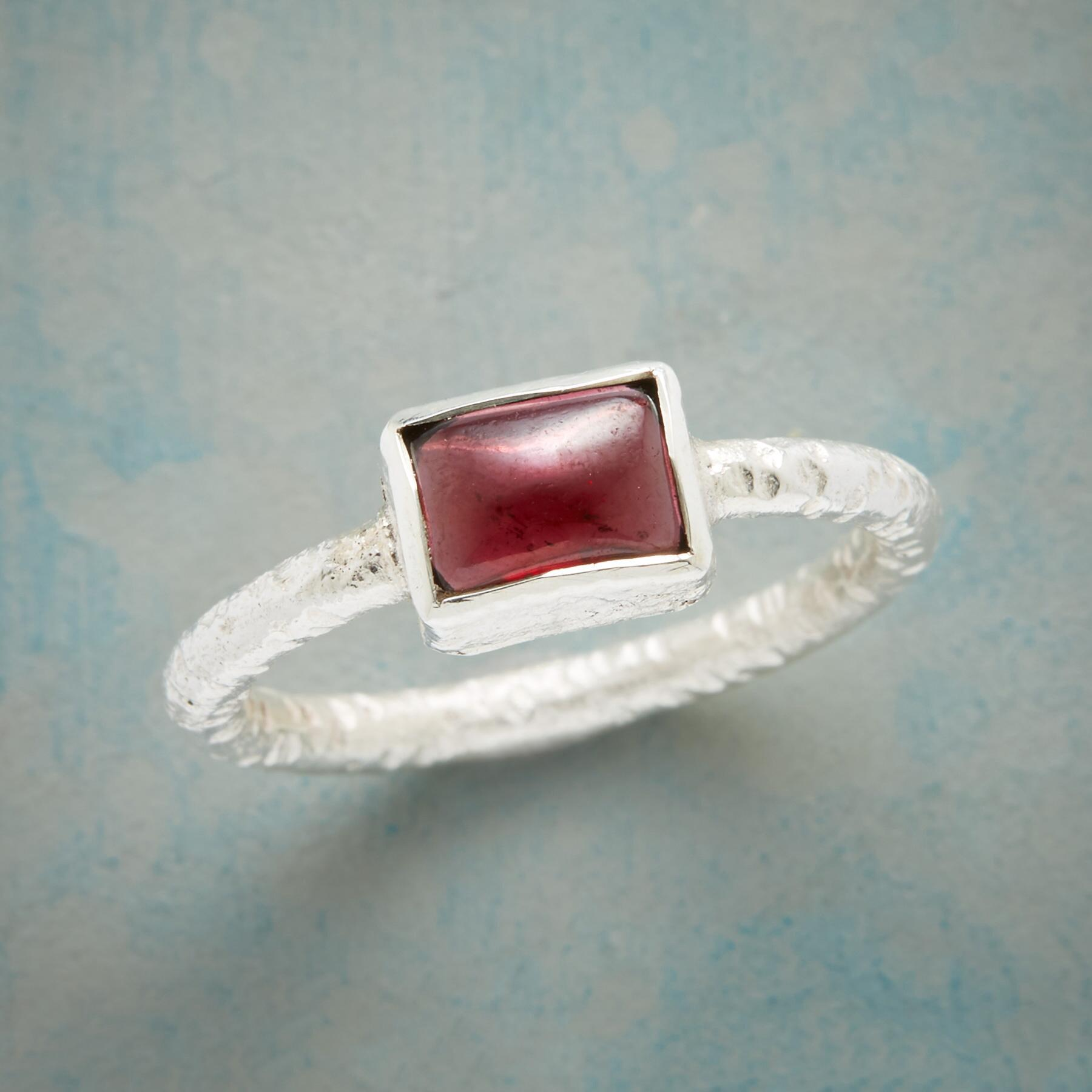 GARNET PILLOW RING: View 1