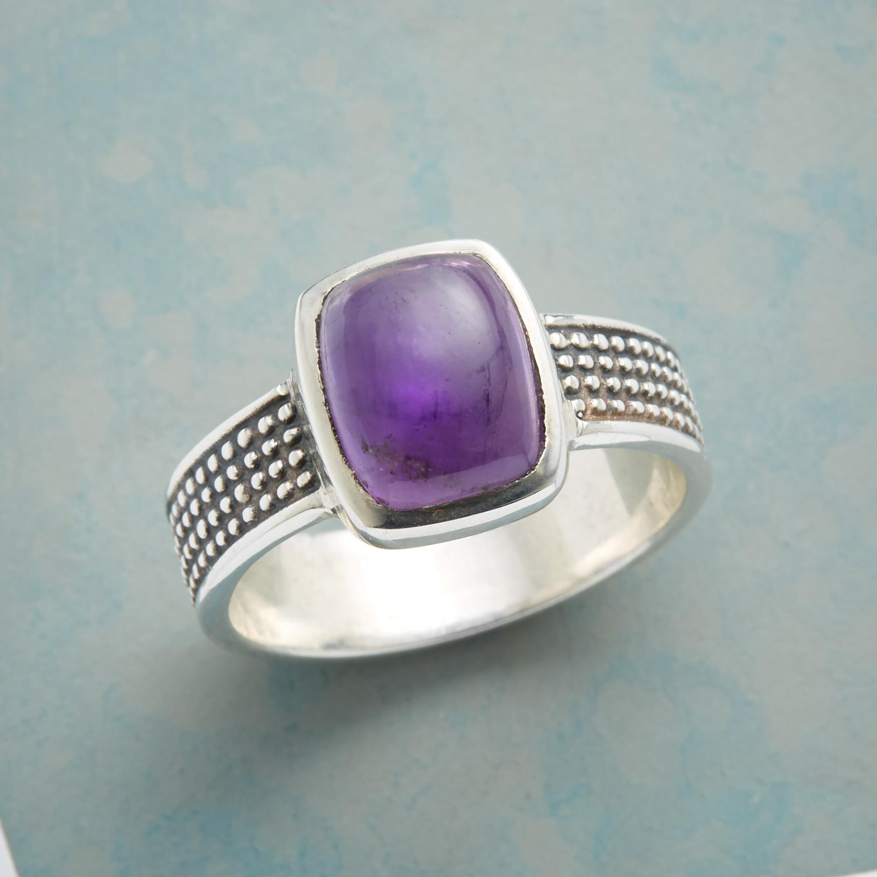 LUSCIOUS LAVENDER RING: View 1