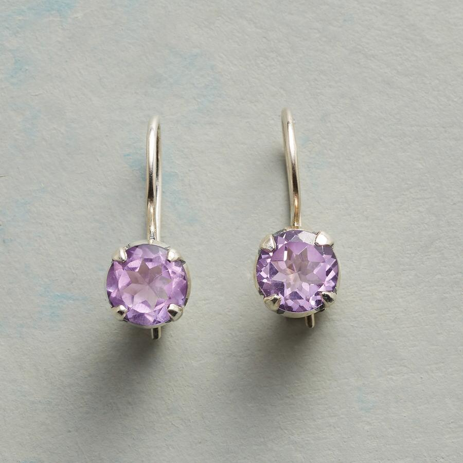 AMETHYST CUPCAKE EARRINGS
