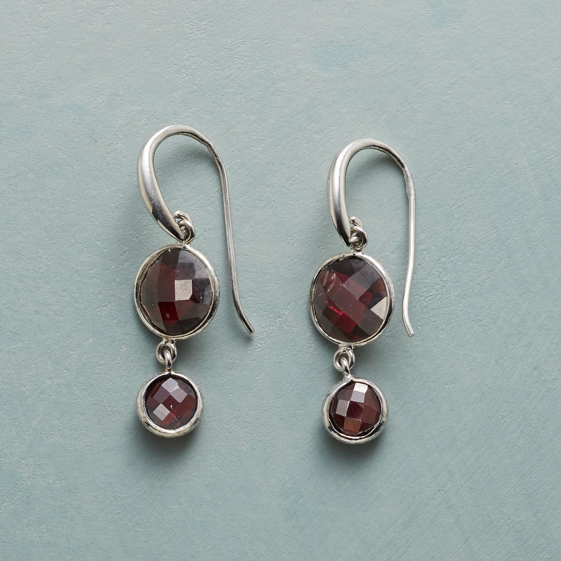 GARNET DUO EARRINGS: View 1
