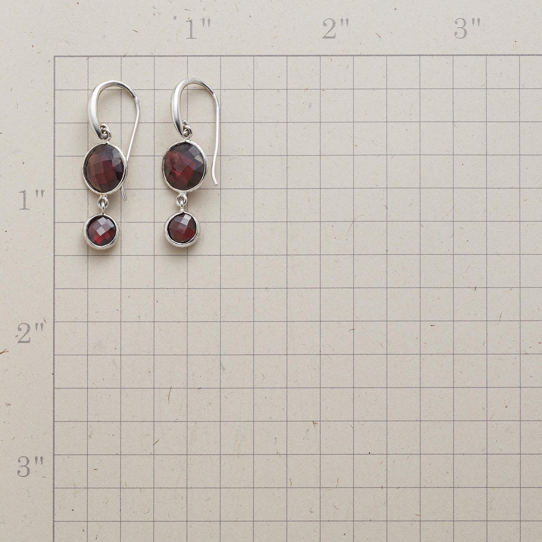 GARNET DUO EARRINGS: View 2