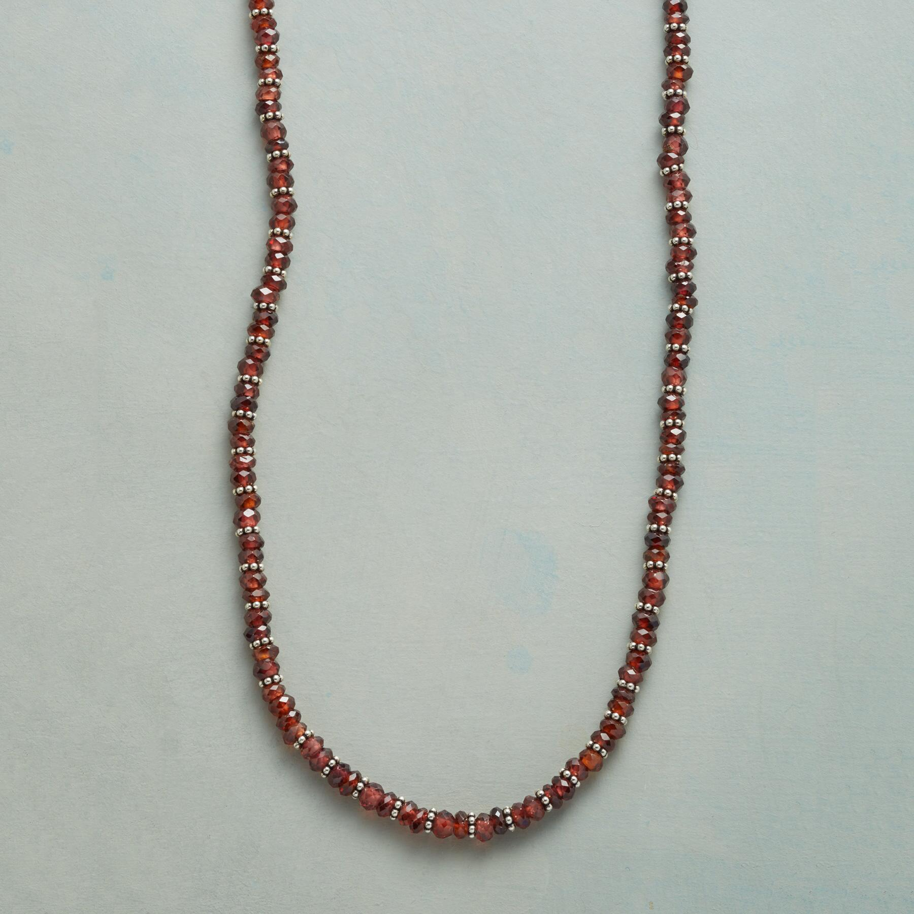 TWO AT A TIME GARNET NECKLACE: View 1