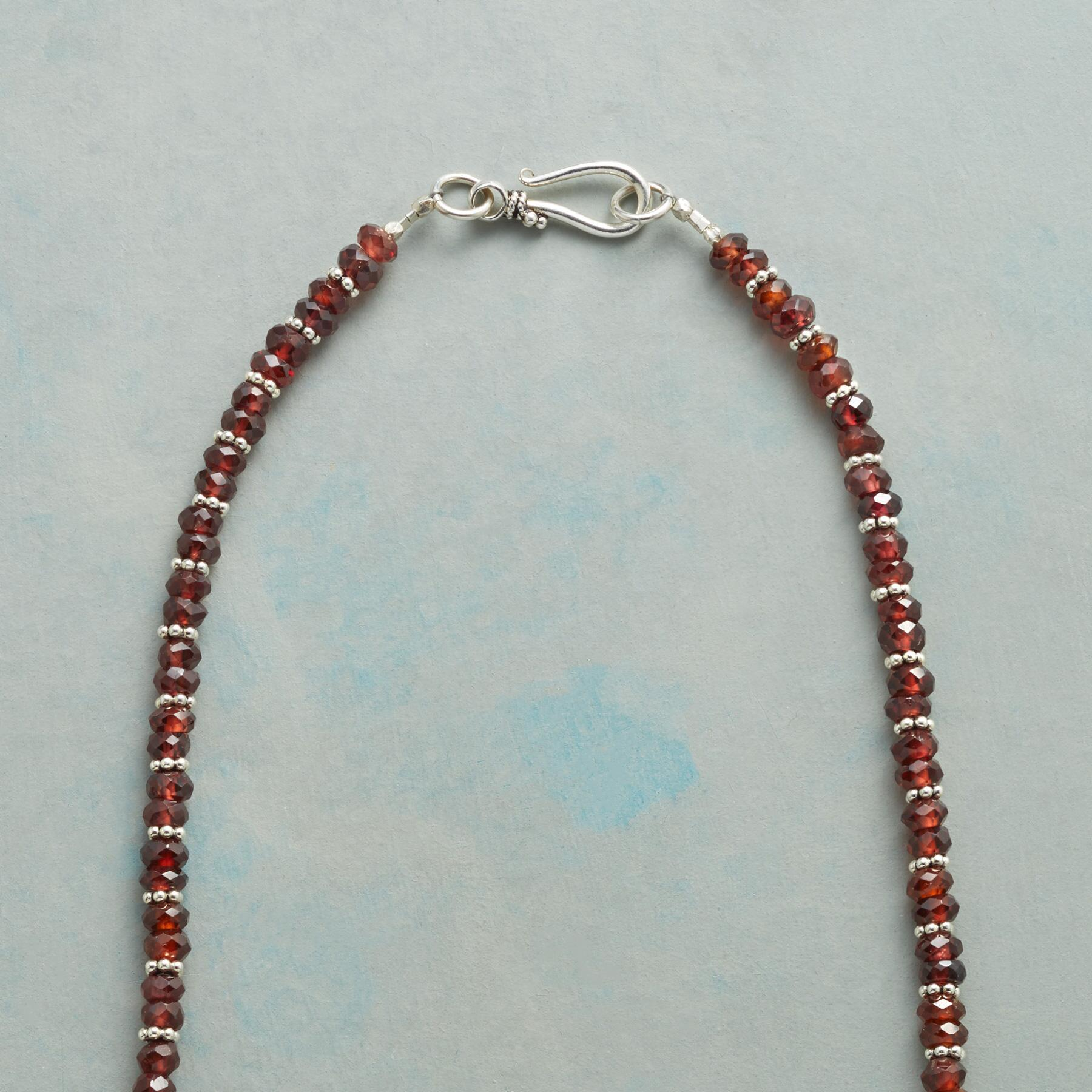 TWO AT A TIME GARNET NECKLACE: View 3