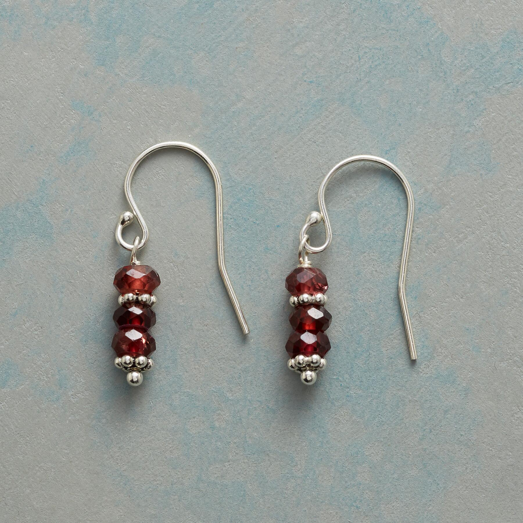 TWO AT A TIME GARNET EARRINGS: View 1