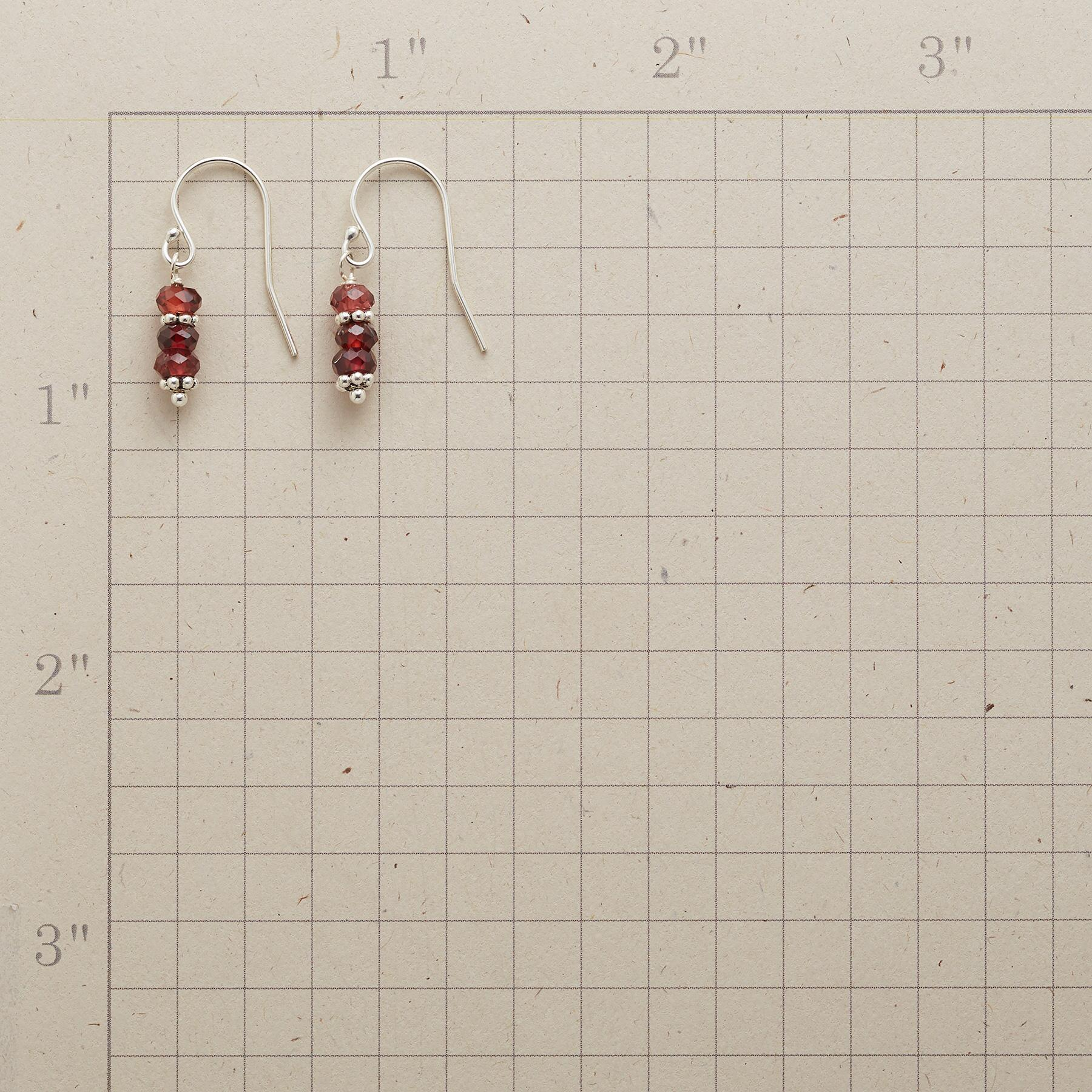 TWO AT A TIME GARNET EARRINGS: View 2
