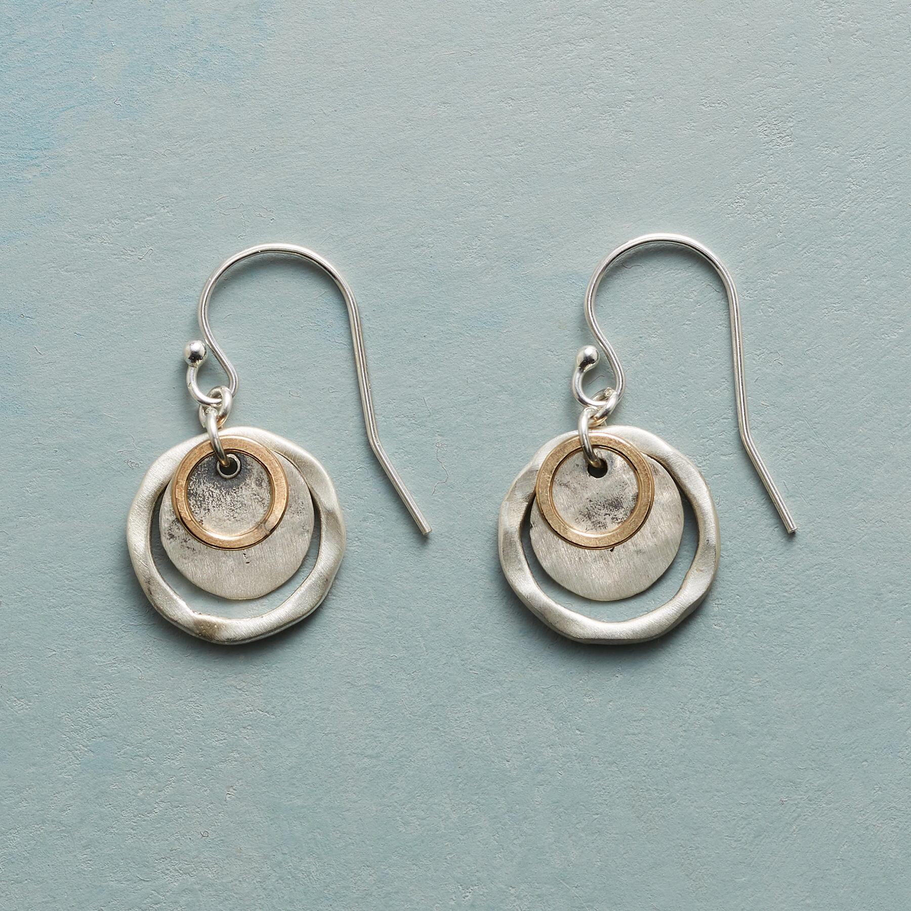 GOLDEN ECLIPSE EARRINGS: View 1