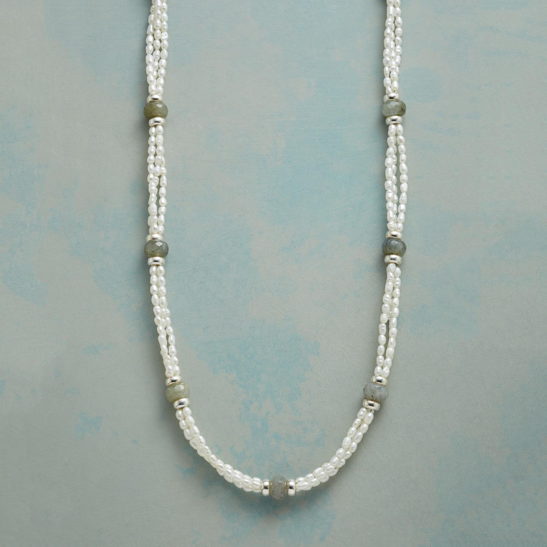 TRIPLE VISION PEARL NECKLACE: View 1
