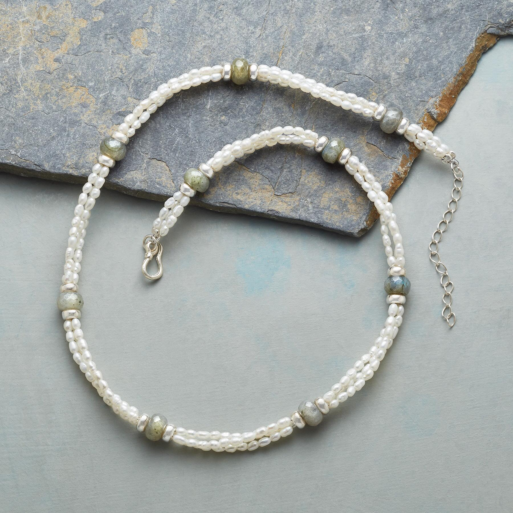 TRIPLE VISION PEARL NECKLACE: View 2