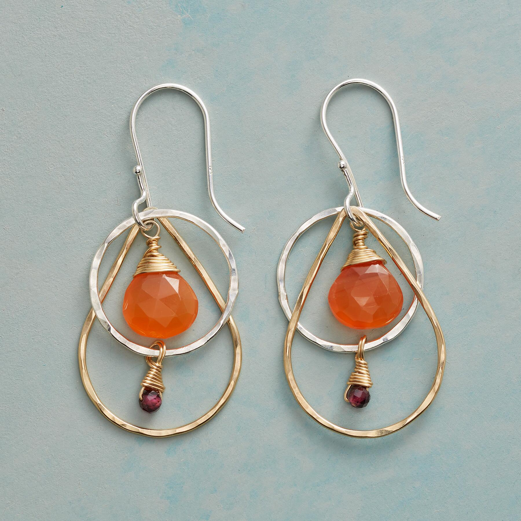 CARNELIAN FIRE EARRINGS: View 1