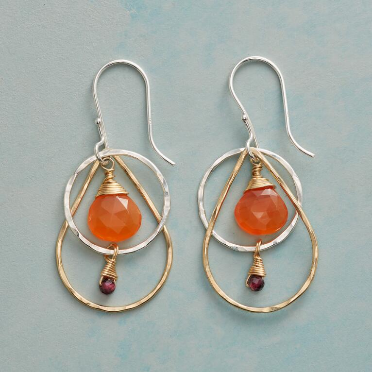 CARNELIAN FIRE EARRINGS