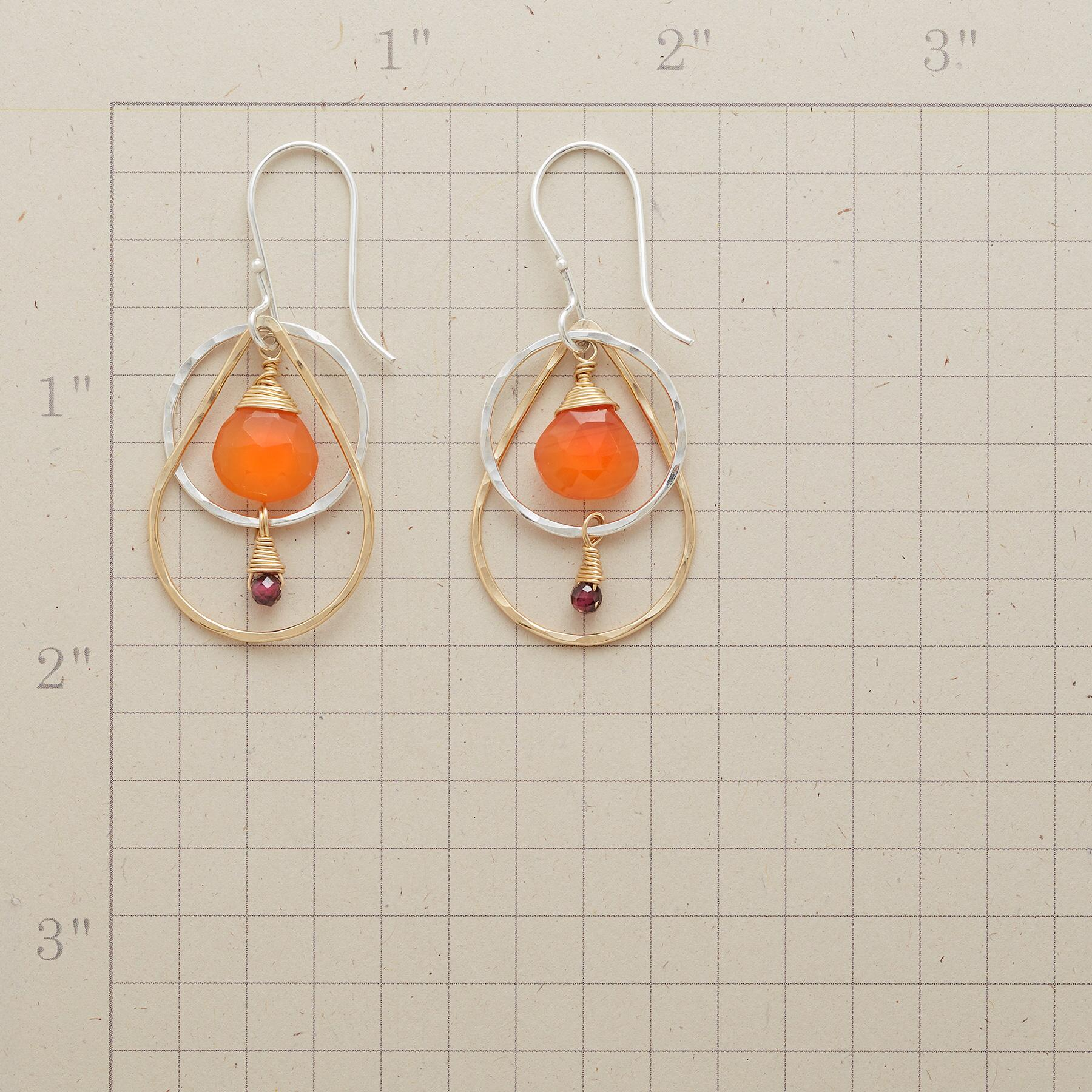 CARNELIAN FIRE EARRINGS: View 2