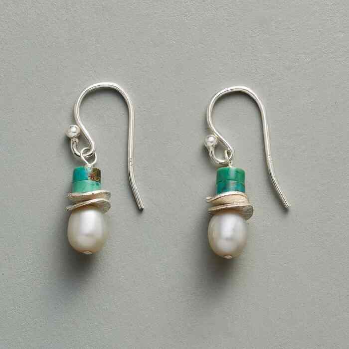 TURQUOISE TOPPER EARRINGS