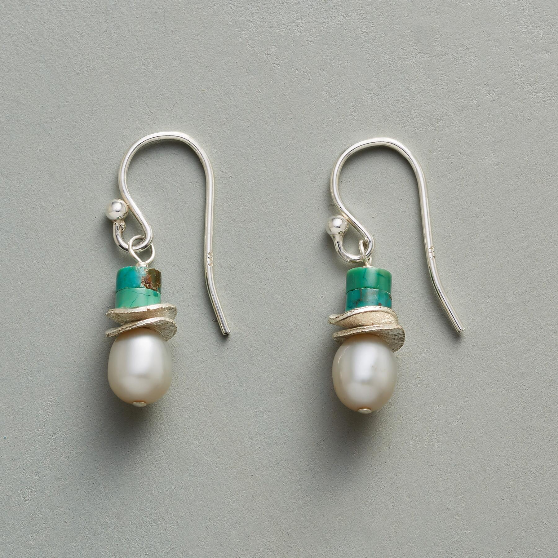 TURQUOISE TOPPER EARRINGS: View 1