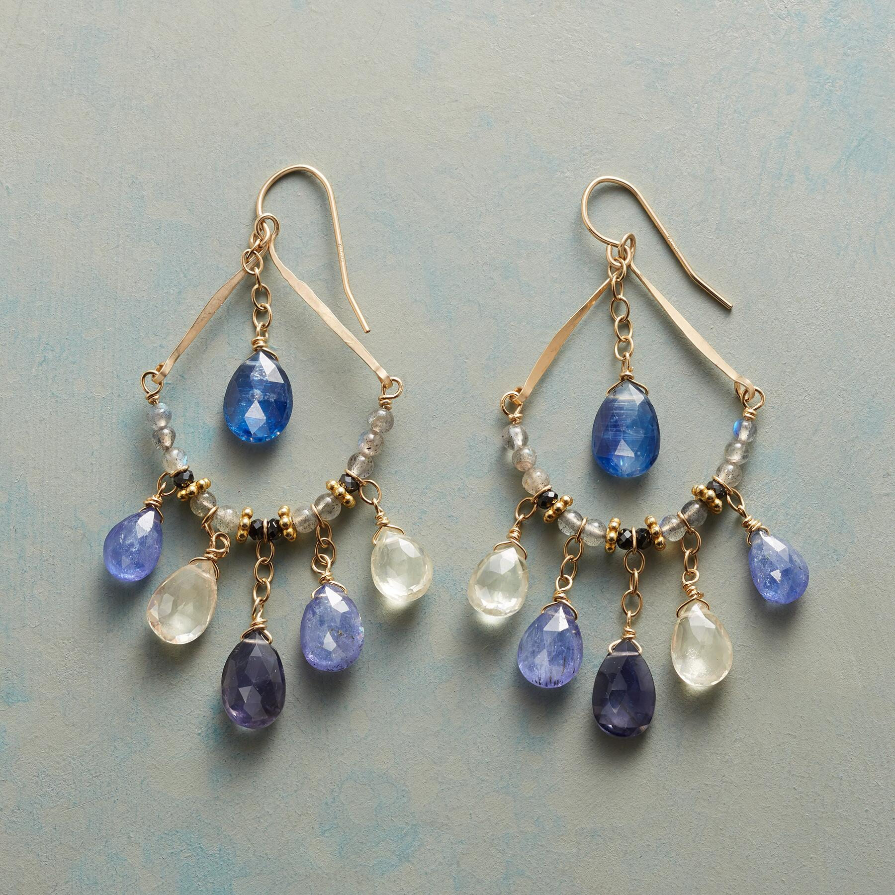 BLUE MIST EARRINGS: View 1