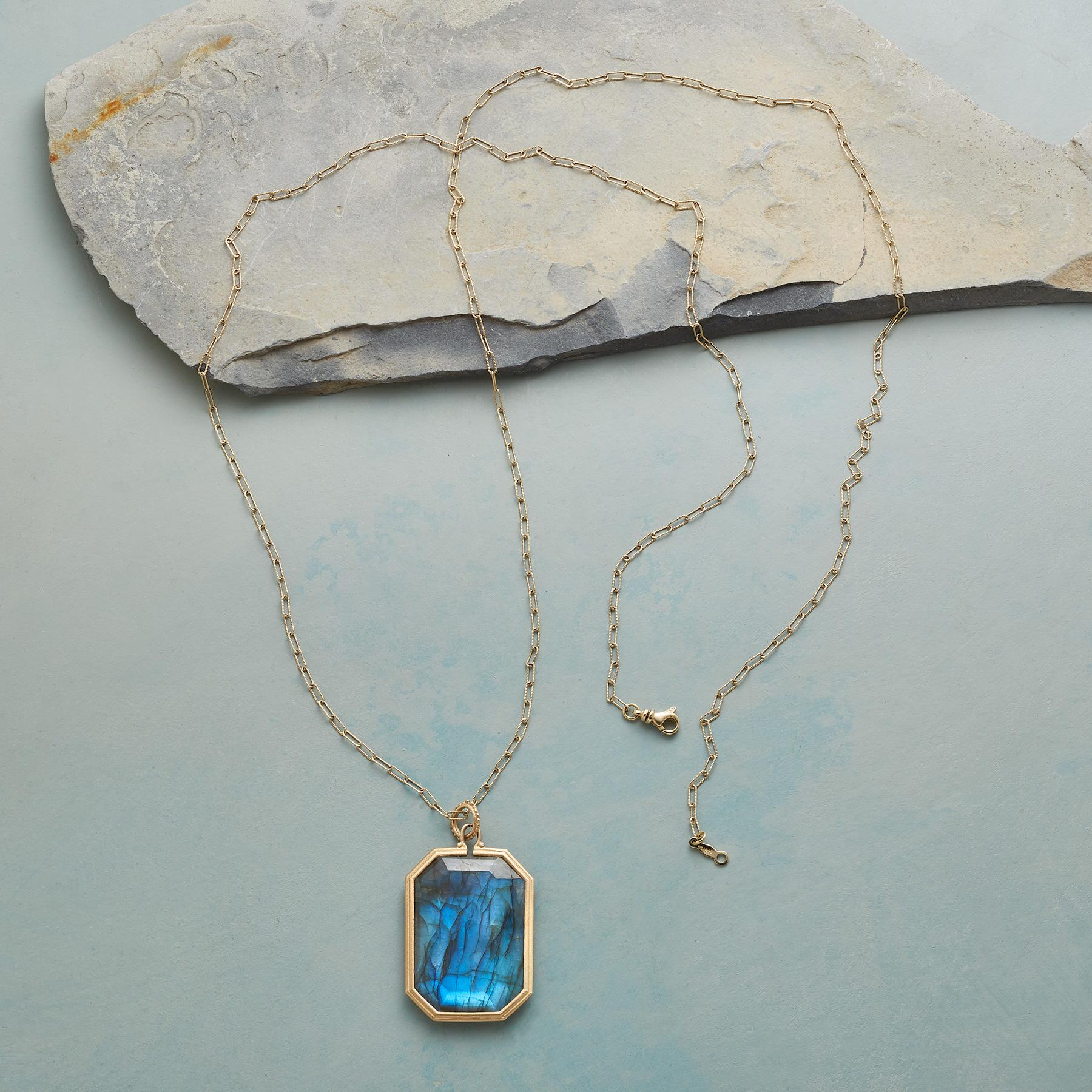 LUCKY IN LABRADORITE NECKLACE: View 2