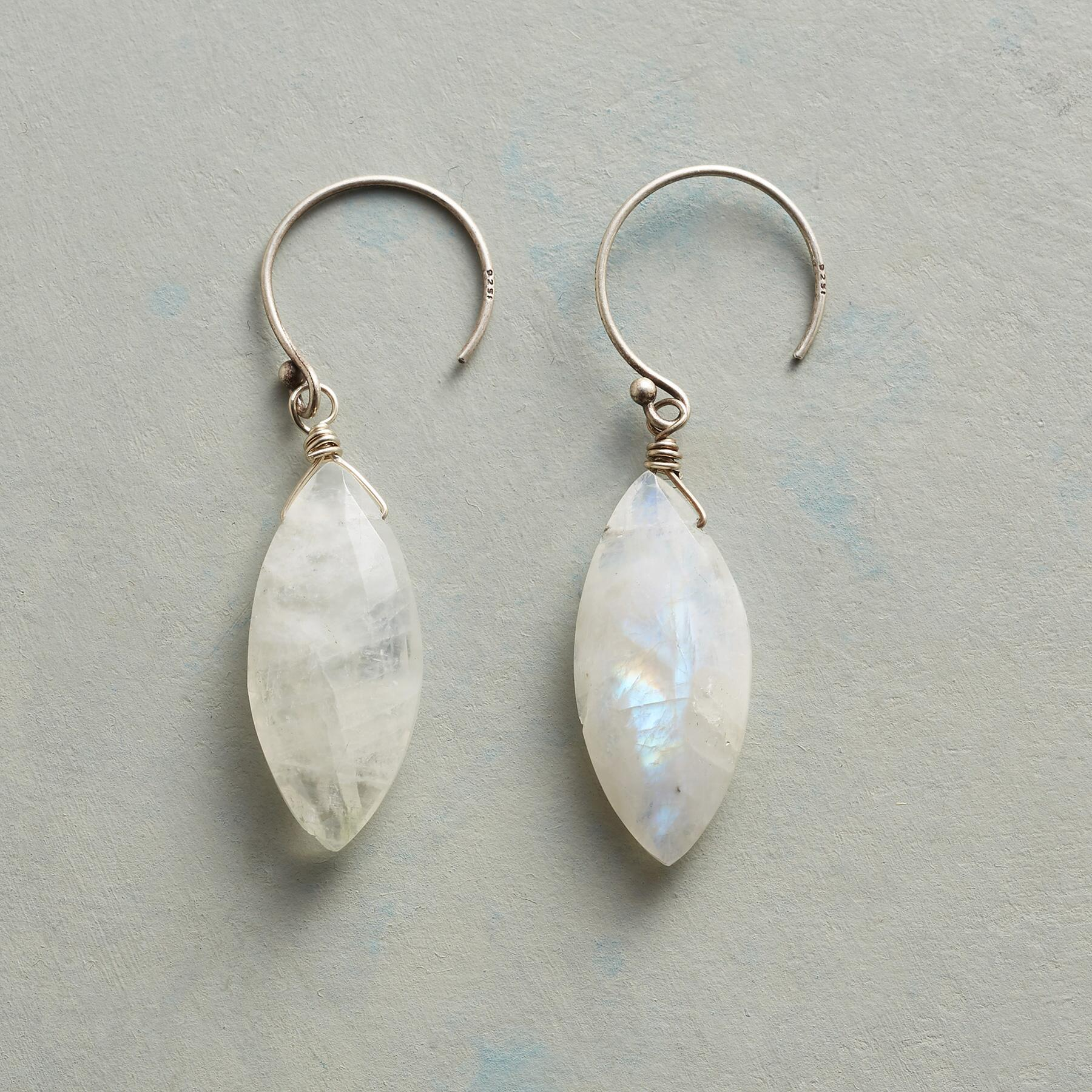 DOVE'S FEATHER EARRINGS: View 1