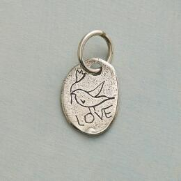 STERLING SILVER DOVE CHARM