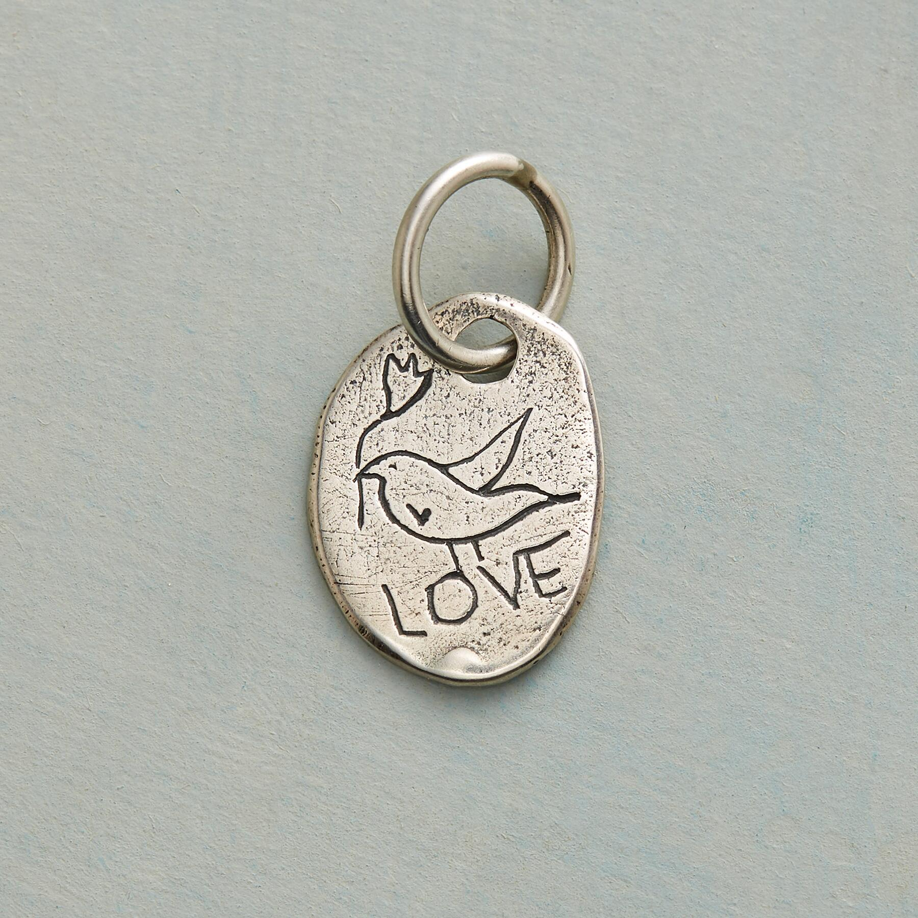 STERLING SILVER DOVE CHARM: View 1