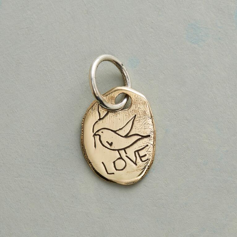 GOLD DOVE CHARM