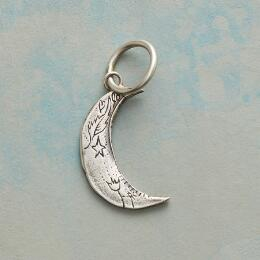 STERLING SILVER MAGIC MOON CHARM