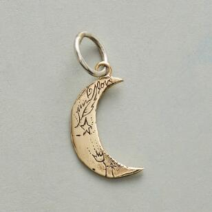 GOLD MAGIC MOON CHARM