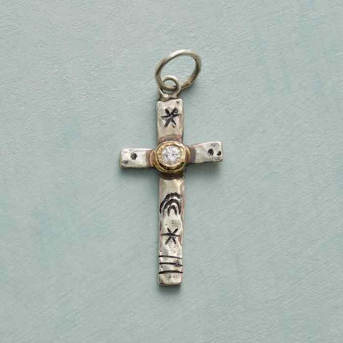 DIAMOND CROSS CHARM