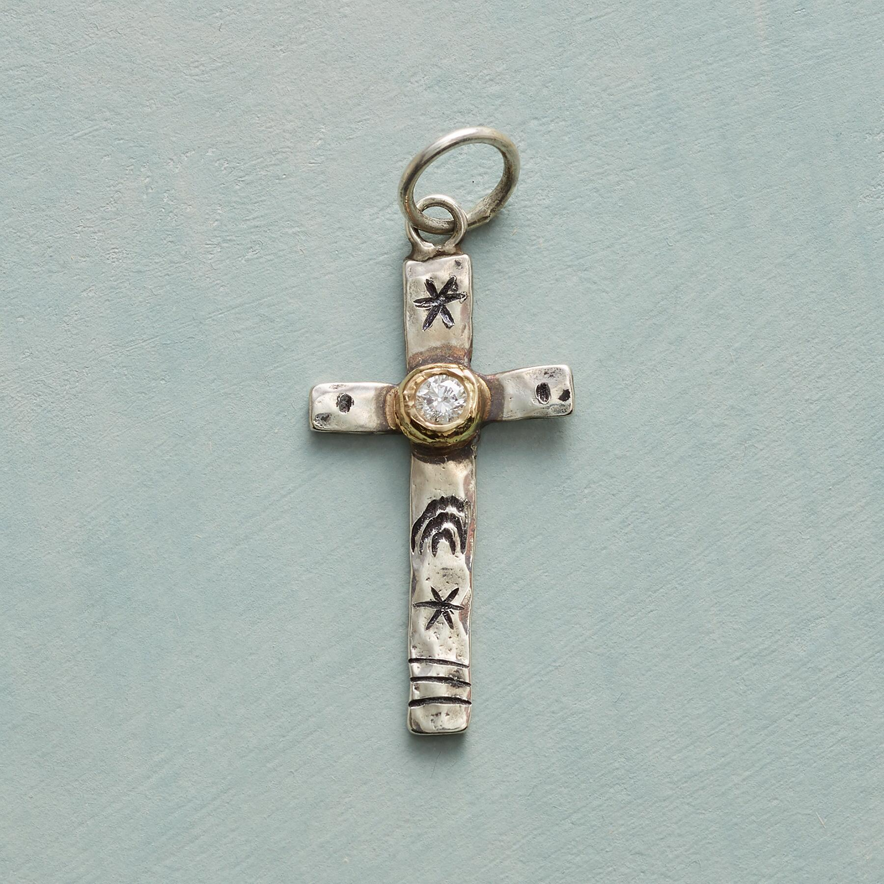 DIAMOND CROSS CHARM: View 1