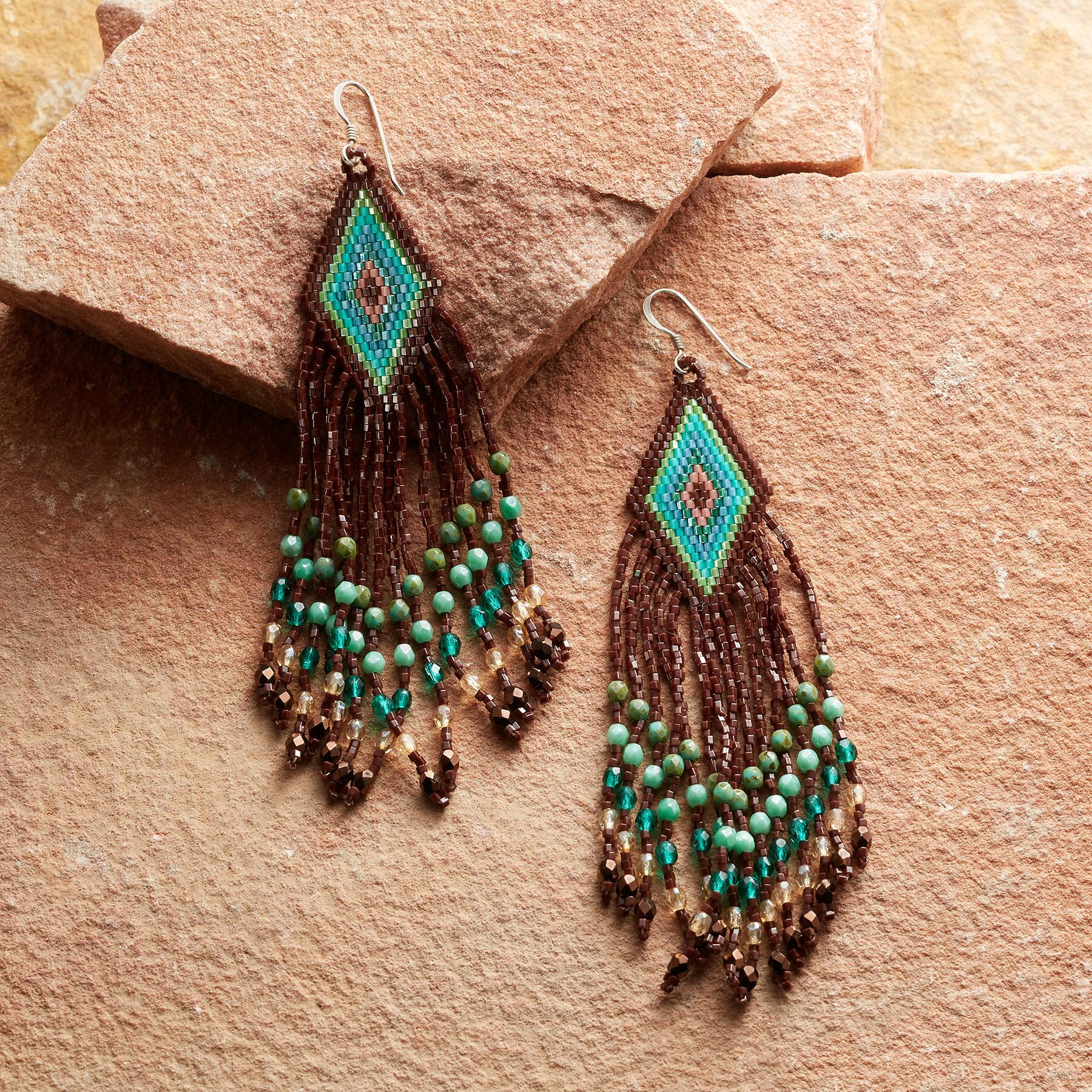 VIDA BEADED EARRINGS: View 1