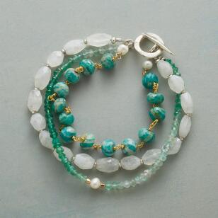 Frosted Evergreen Bracelet