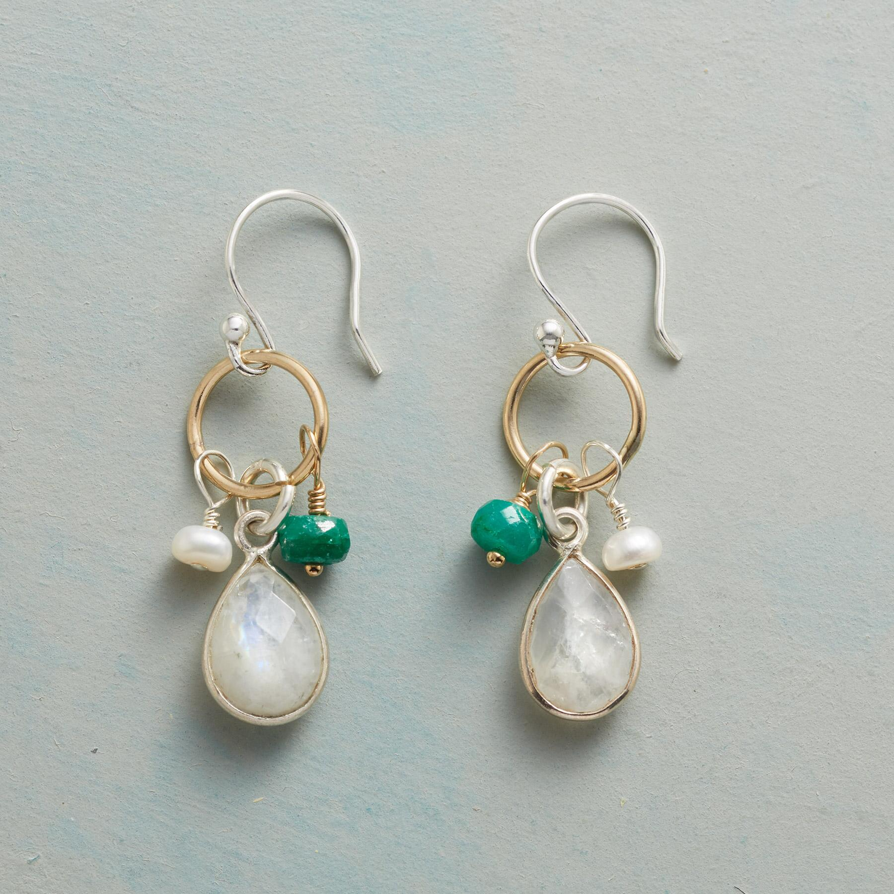 FROSTED EVERGREEN EARRINGS: View 1
