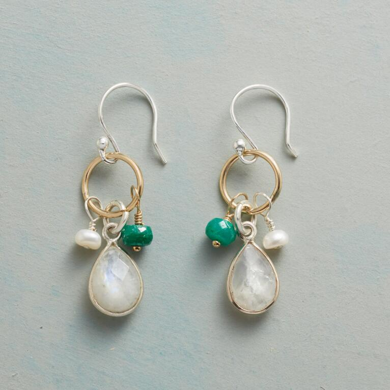 FROSTED EVERGREEN EARRINGS