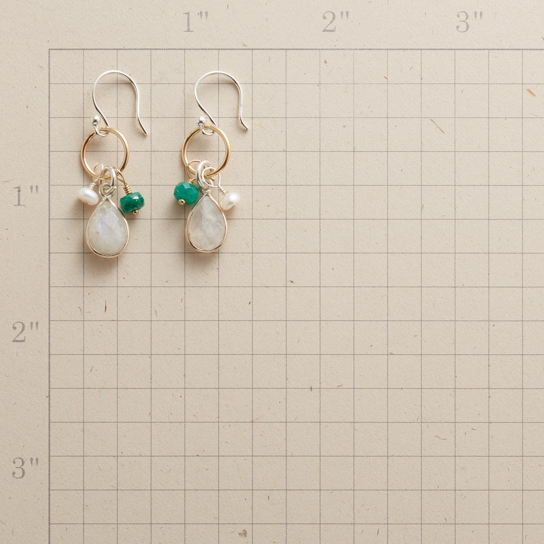 FROSTED EVERGREEN EARRINGS: View 2