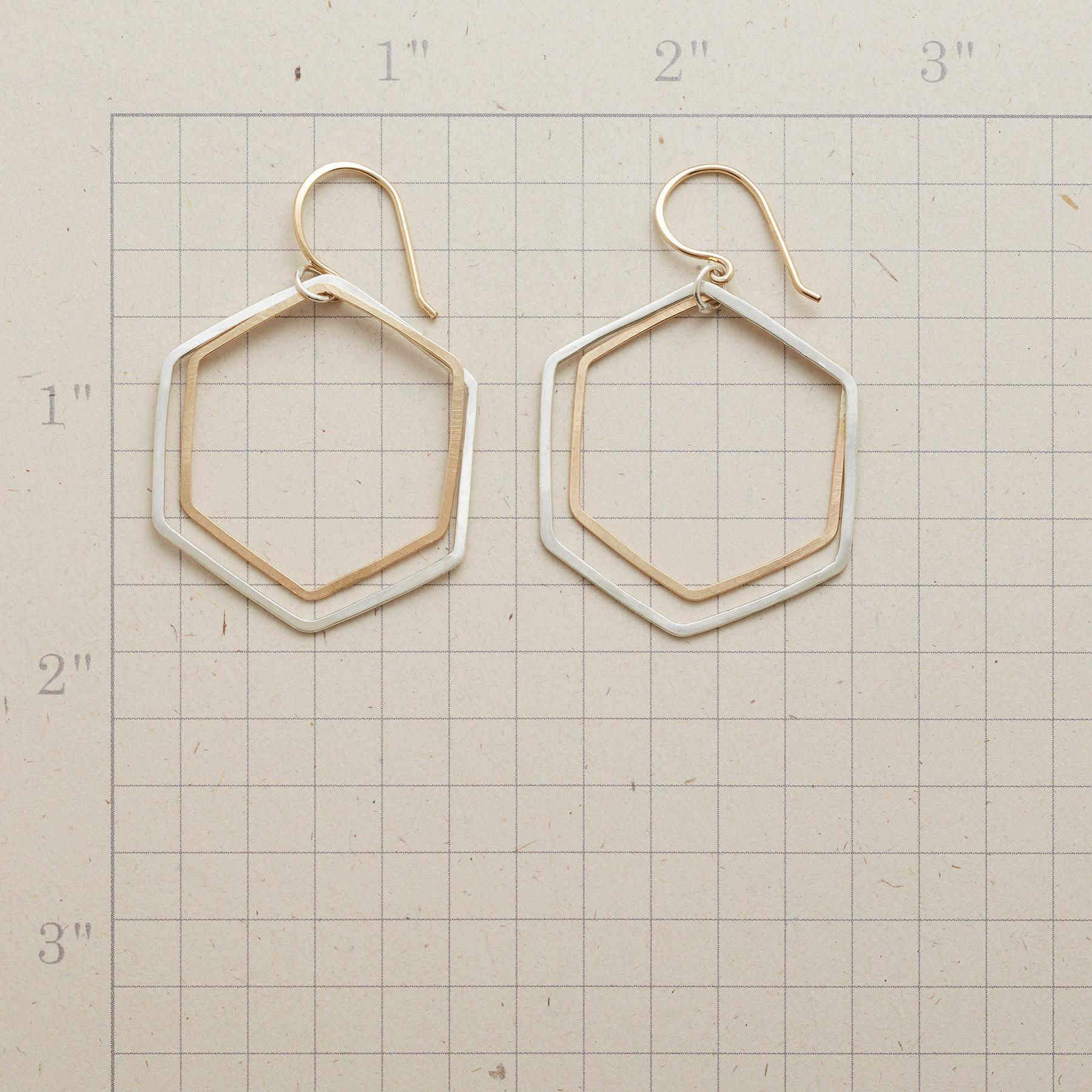 HEXAGON HOOP EARRINGS: View 2