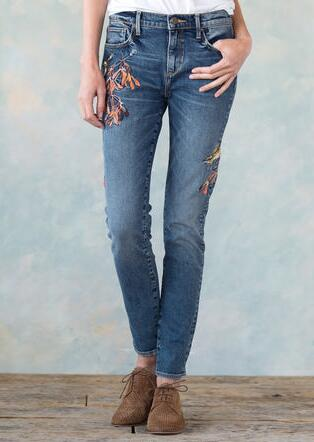 JACKIE EMBROIDERED JEANS BY DRIFTWOOD