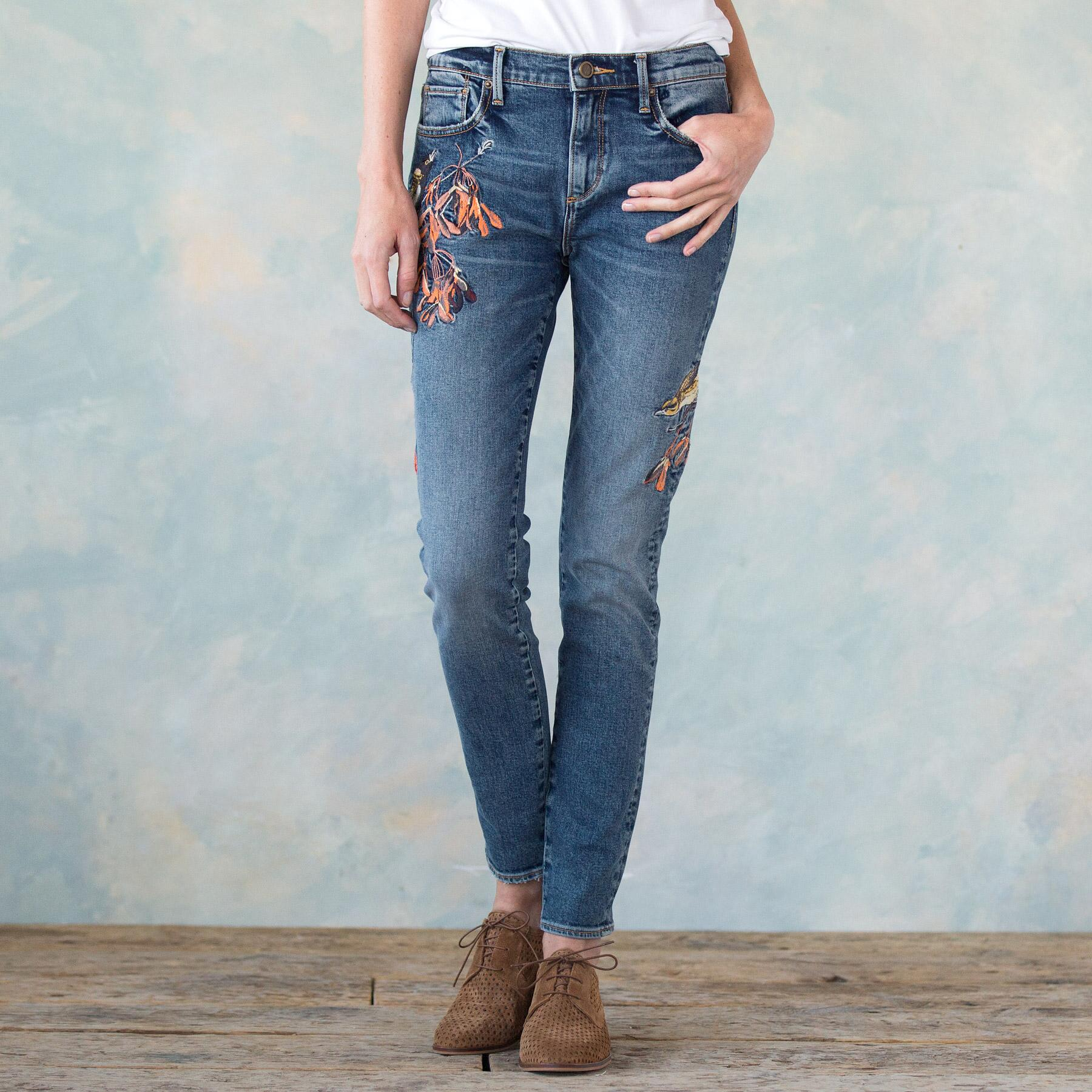 JACKIE EMBROIDERED JEANS: View 1