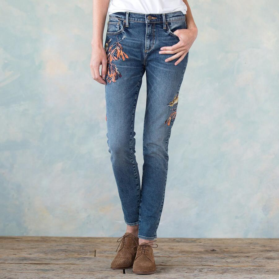 JACKIE EMBROIDERED JEANS