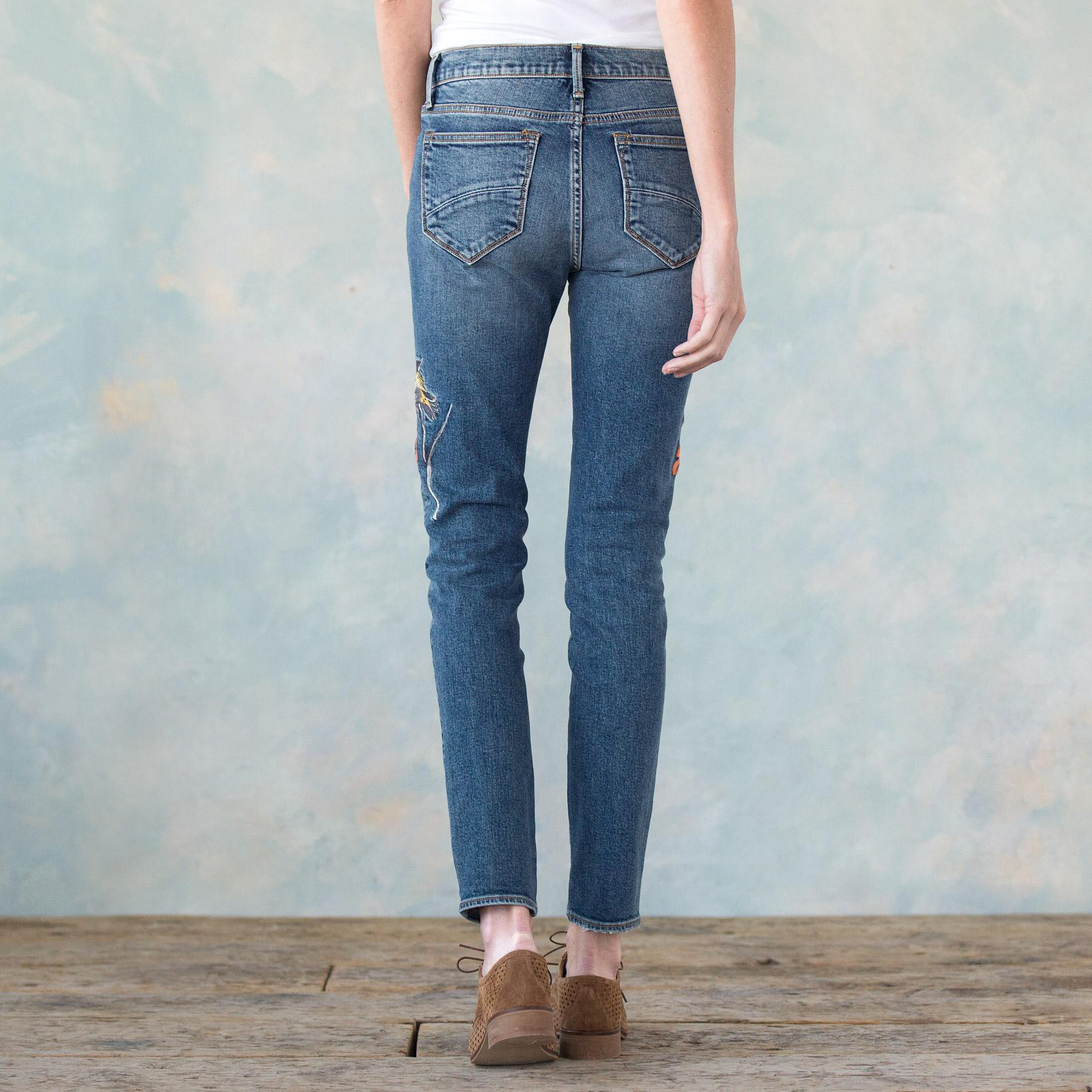 JACKIE EMBROIDERED JEANS: View 2