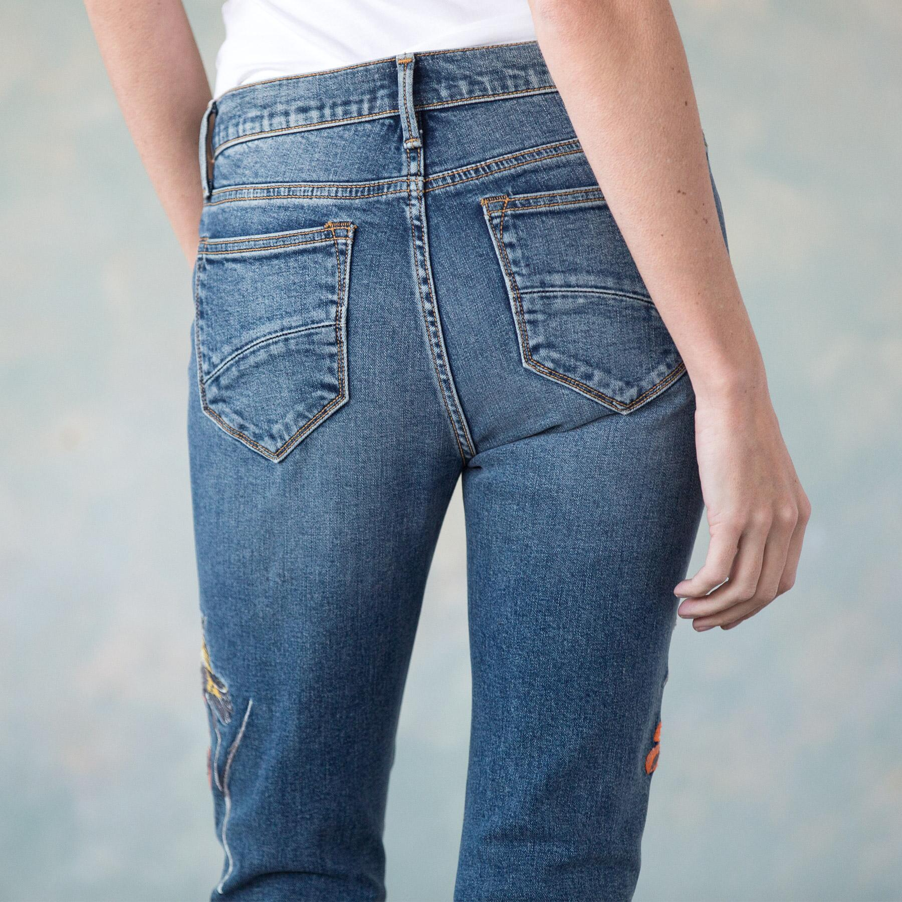 JACKIE EMBROIDERED JEANS: View 5