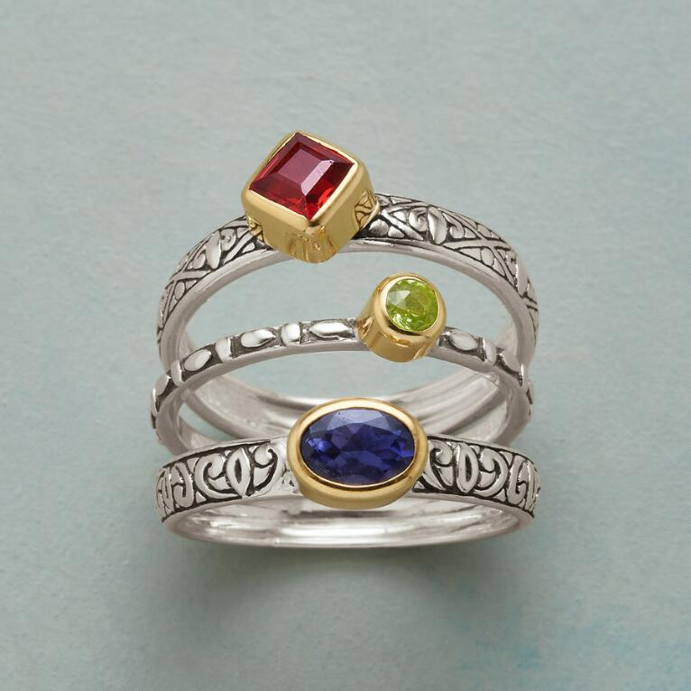 ROYAL TRIO RINGS, SET OF 3