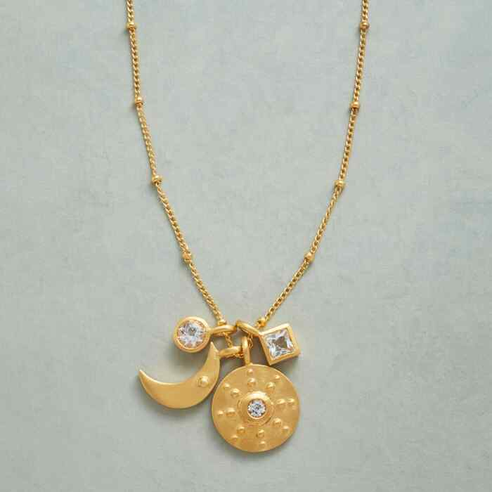 GOLD YOU'RE MY WORLD NECKLACE