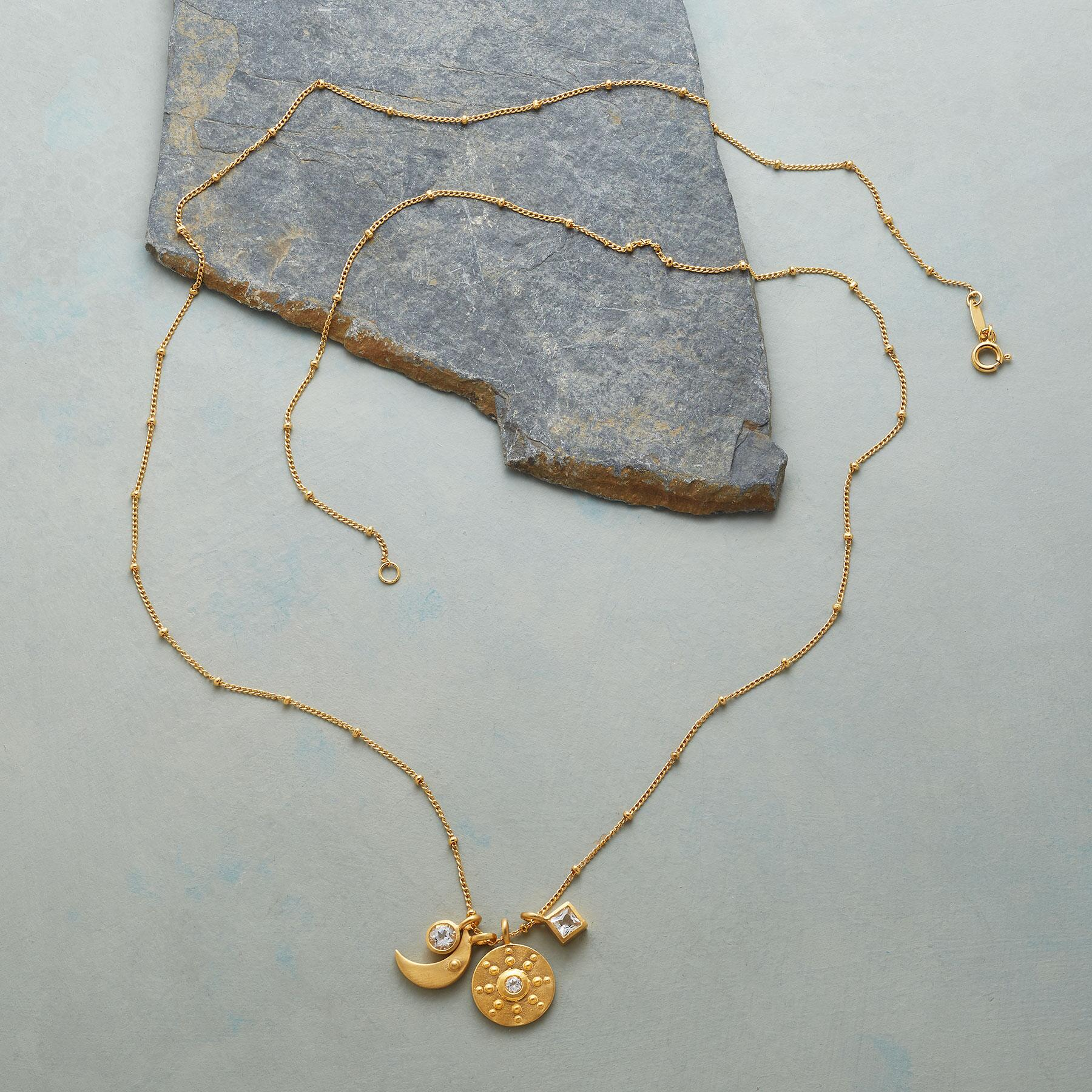 GOLD YOU'RE MY WORLD NECKLACE: View 2